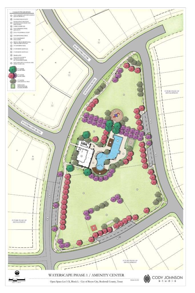 Amenity Center Land Plan Rendering